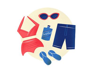 Beach Time! summer sunblock sunglasses swimsuit vacation beach
