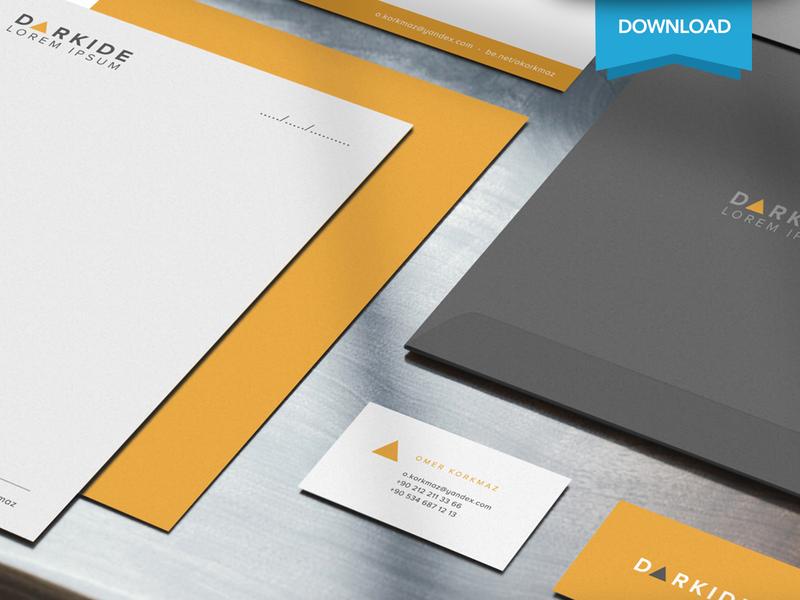 Free Corporate Identity Mockup envelope business card identity corporate moxkup psd free