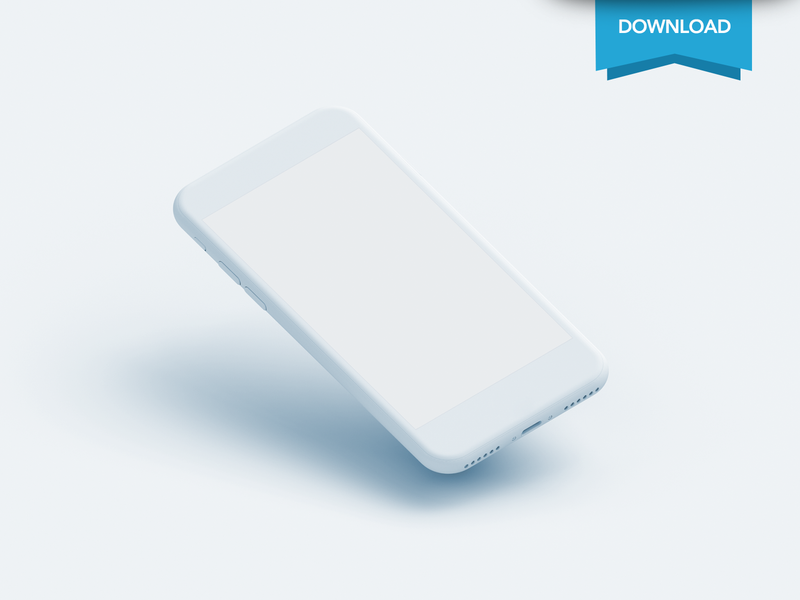 Free Iphone Clay Mockup perspective ios download psd clay iphone mockup free