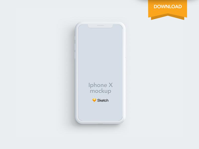 Free Iphone X Clay Mockup Sketch sketch download clay mockup iphone x free