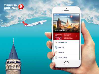 Turkish Airlines Flight iOS App icon interaction design app ios book travel airlines flight user experience user interface ux ui
