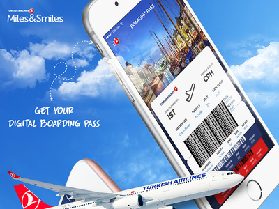 Turkish Airlines - Flight Boarding Pass user interface user experience ux ui travel ios interaction design flight pass boarding app airlines