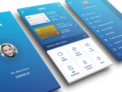 BBVA Banking App payment login user interface user experience interaction design design ux ui ios app bank