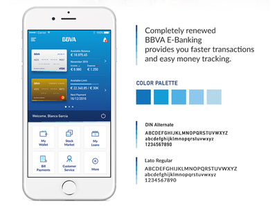 BBVA Banking App Main Screen user interface ux ui ios sign in screen login interaction design app account bank