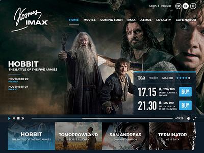 Kosmos IMAX - Cinema Web UI banner slide user ui design interaction web responsive cinema