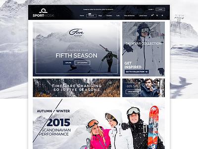 SPORTKIOSK - Online Shopping Website e-commerce online ux fashion ecommerce shopping clothe user interface ui design web