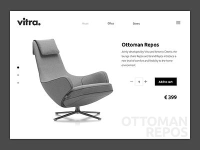 Vitra Web Product E-commerce UI minimal white black ux responsive interaction product ui shop ecommerce web vitra
