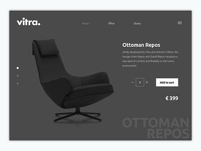 Vitra Web Product E-commerce UI minimal white web vitra ux ui shop responsive product interaction ecommerce black