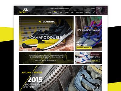 SportKiosk / Diadora - Online Shopping Website web ux user interface ui shopping online fashion e-commerce ecommerce sport design clothe