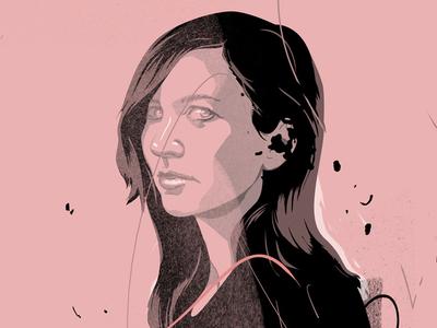 Dorota M girl face portrait 2d illustration