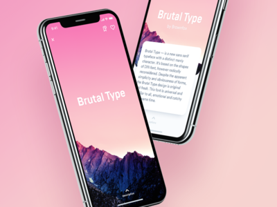 Font Me – Product Page animation interaction swipe clean detail x iphone ui app ios font font me