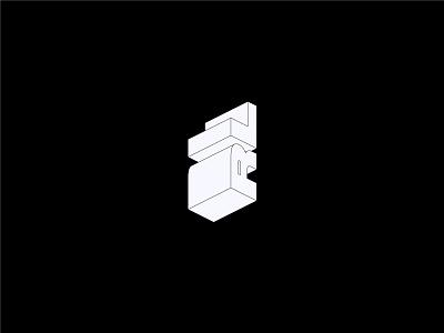 'MonoBlock' isometric monogram logo design