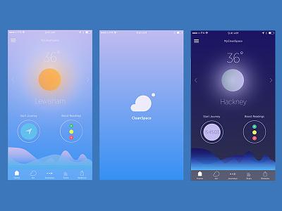Ui Cleanspace gradients cleanspace weather ui