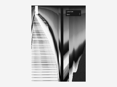 :: Rift 01 black and white poster design typography type colour vibrant tutorial manga anime japanese abstract poster