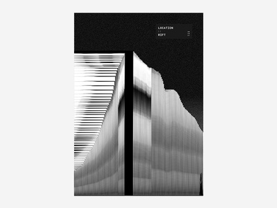 :: Rift 03 black and white poster design typography type colour vibrant tutorial manga anime japanese abstract poster