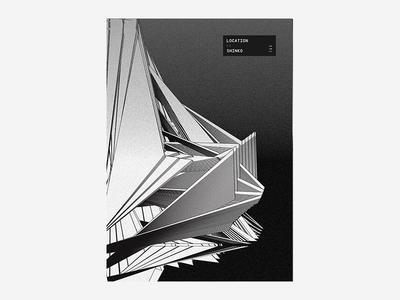 :: Shinko black and white poster design typography type colour vibrant tutorial manga anime japanese abstract poster
