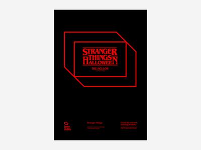 Stranger Things Halloween poster design illustration swiss neon typography type halloween stranger things poster