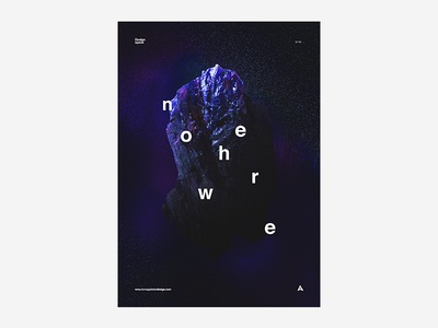 Nowhere black and white poster design typography type colour vibrant tutorial manga space abstraction abstract poster