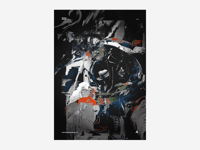 Design Space 3 black and white poster design typography type colour vibrant tutorial manga anime japanese abstract poster
