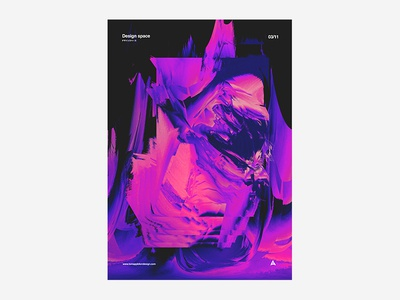 Design Space 4 black and white poster design typography type colour vibrant tutorial manga anime japanese abstract poster