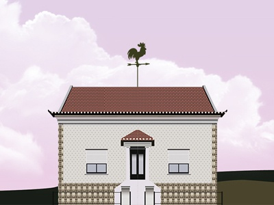 Cute vector house cartoons multiplication clip-art flat vector illustration house