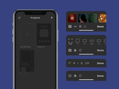 Web Site Constructor App Design Concept