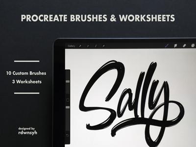 Procreate Brushes: Sally
