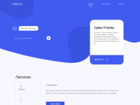 /A1 Cyber Security Website's UI Design