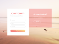 Sign Up - Daily UI #001