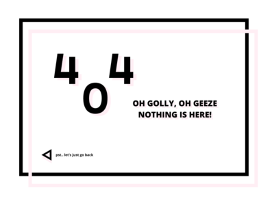 404 Page - Daily UI #008 pink error 404 page 404 daily ui