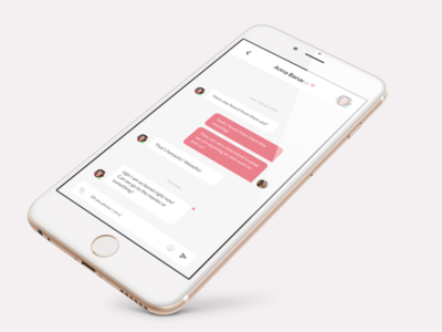 Direct Messaging - Daily UI #013 mobile white ui daily ui 13 daily ui messaging pink direct messaging