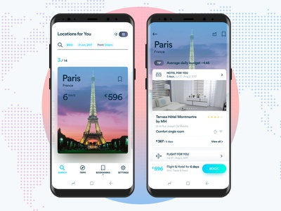 Travel App android ui mobile design material design travel app concept uiux