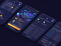 Blockchain Lottery: Home page. Mobile