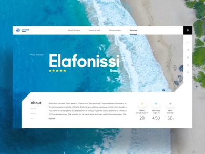 Beach page layout