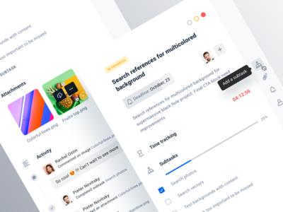 Project management tool: Task details