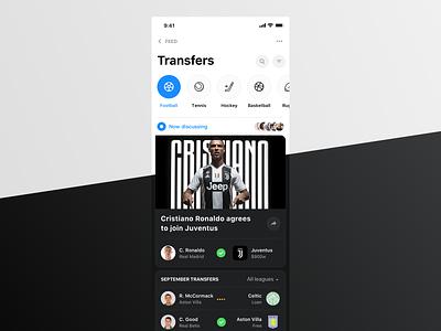 Rewind: Transfers news feed news rewind sportbook sport app football sports transfers chat bot betting bet
