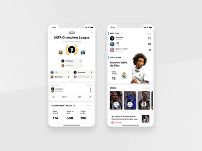 Rewind: League profile media statistics widgets clean product product design interface sportbook rewind betting bet sports app football profile