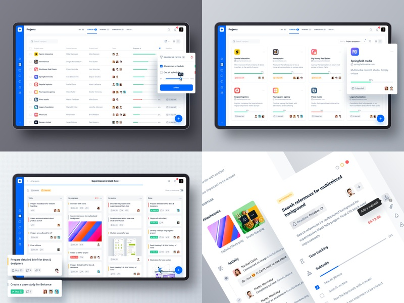 Favorite 4 shots of 2018 ux ui dashboard table layout sidebar typography grid cards product design product interface