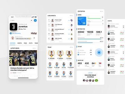 Rewind: Team profile table design ui  ux dashboard statistics profile design cards betting product design interface