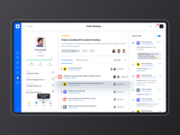 Project management tool: Team. Employee profile