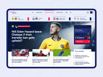 Football transfers. Home page