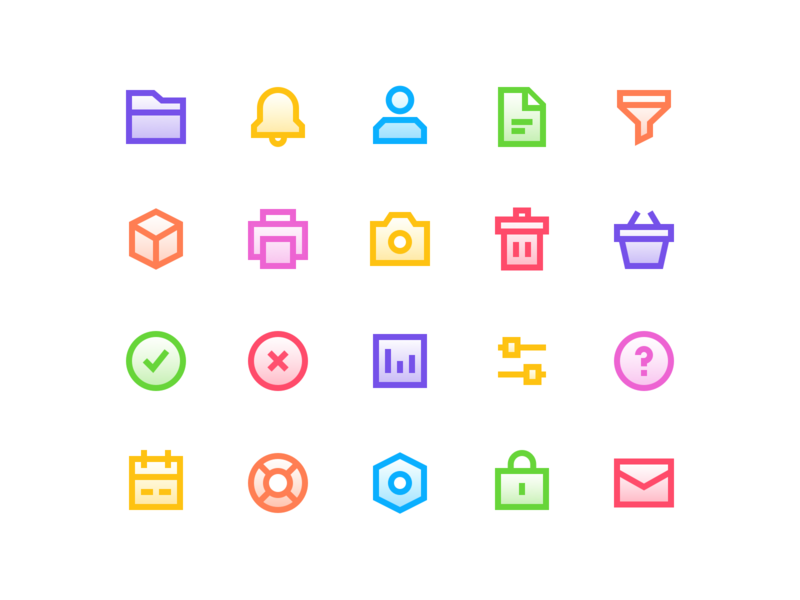 Simple interface icons. Take 2 🎬 icondesign icon set icon colors graphicdesign graphic illustration vector ux clean profile dashboard cards ui product design interface