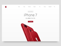 iPhone (Product) Red Landing Page Concept