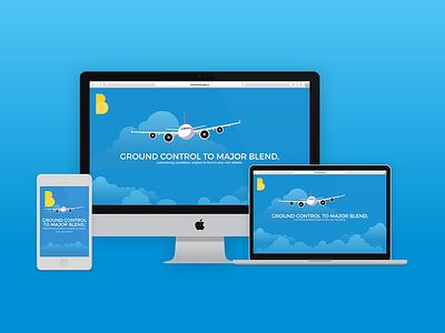 Blend Landing Page space oddity coming soon web design responsive illustration page landing ui website blend