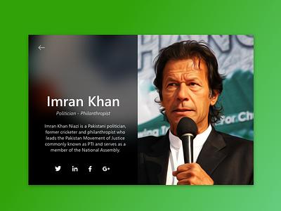 Fluent Profile Card adobexd microsoft fluent imran khan politician card social profile rebound