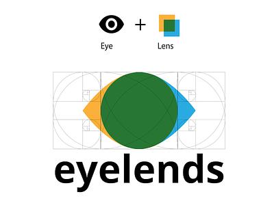 Eyelends Minimal logo colors primary flat ratio golden minimal noto logo lens eye