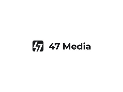 47 Media - Logo Identity branding brand identity logos logosai hire me available for hire illustrator negative space media icon lettermark monogram logo designer logo design design concept symbol logo flat minimal
