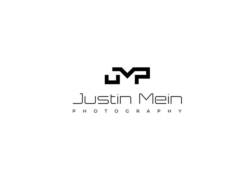 Justin Mein Photography - Brand Identity brand identity available for hire hire me wordmark black and white studio lettermark monogram logo designer photography vector icon branding design logo design concept symbol logo flat minimal