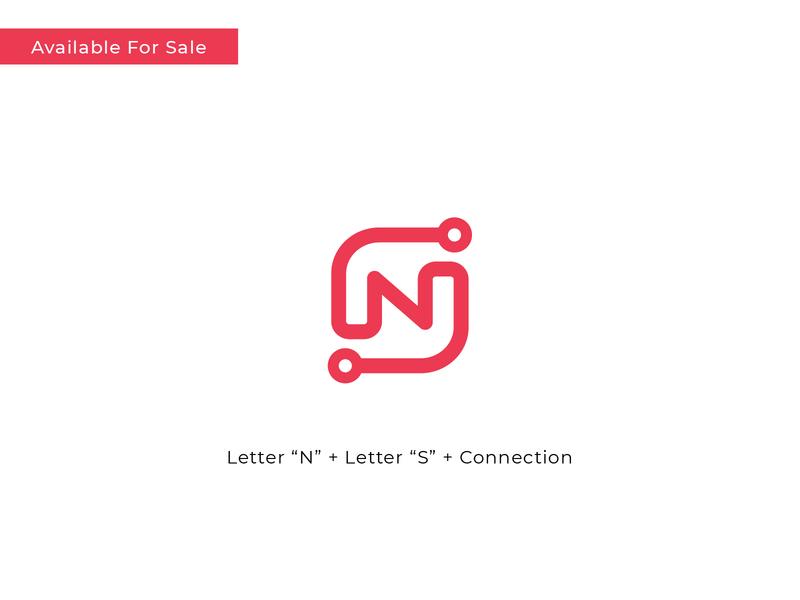 N + S + Connection Concept business startup brand identity logo designer connection link letter n n logo hire me sale icon monogram vector branding logo design concept symbol logo flat minimal
