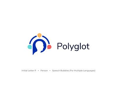 Polyglot - Logo Design brand identity foreign language linguistics multilanguage p logo letter p polyglot illustration typography logo designer monogram vector icon branding logo design concept symbol logo flat minimal